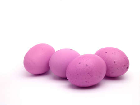 Four pink eggs for the easter period, photo