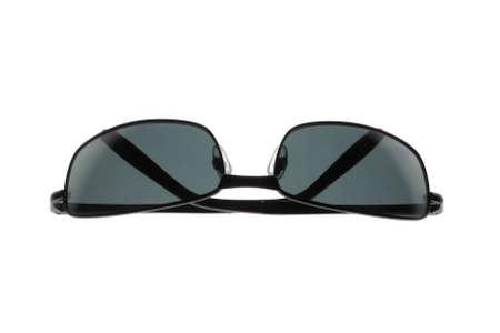 ブラック ファッションのメガネは、白い背景に分離された.