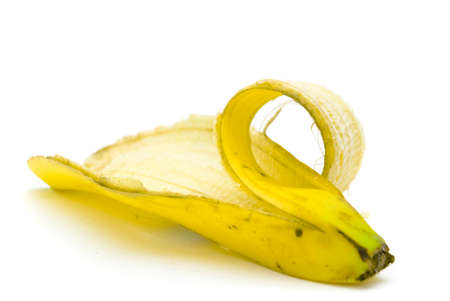 A banana peel isolated on a white background
