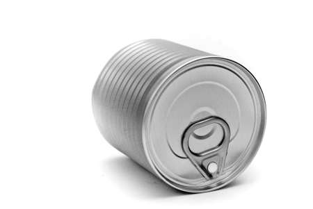 A tin can isolated on a white background Stock Photo - 1745297