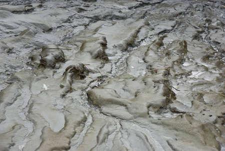 paisaje lunar: Cierre de algunas de barro h�medo.