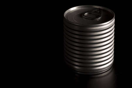 A tin can placed in the dark... Stock Photo