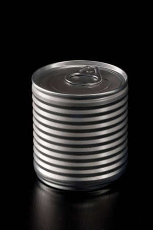 aluminium can: Aluminium Can with reflection Stock Photo