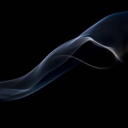 Blue (abstract) smoke on black