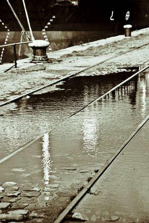 古い港からの歴史的なイメージ 写真素材