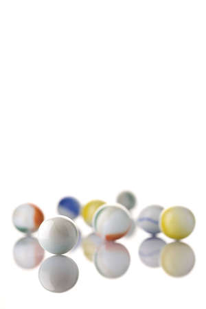 White marbles on a white background