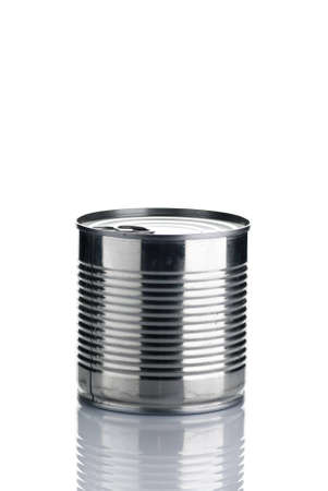 A tin can isolated over white with reflection. Stock Photo - 4129992