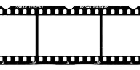 A piece of a negative film.