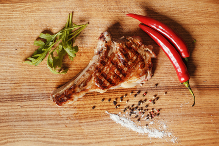 Steak on the bone Banco de Imagens