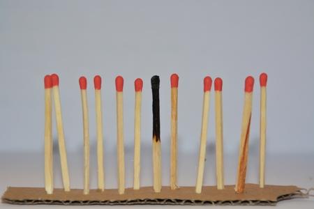 matches in a row Banco de Imagens
