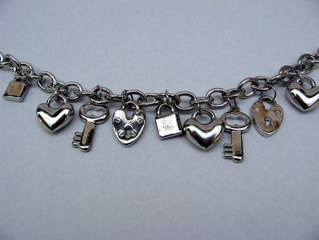 clasp: bracelet with charms Stock Photo