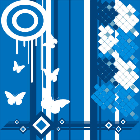 Abstract blue and white background  Illustration