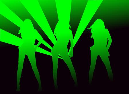 y meisjes op de disco