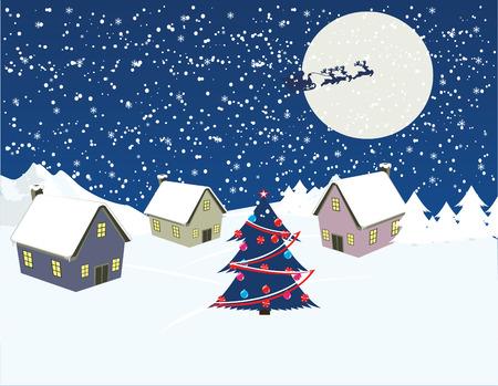 Christmas Night Stock Vector - 3333982