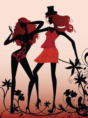 high-fashion black divas Vector