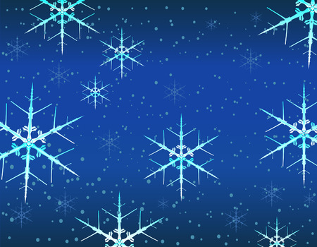 frosted: Background of Frosted Snowflakes Illustration