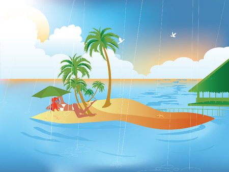 Tropical Rain Illustration