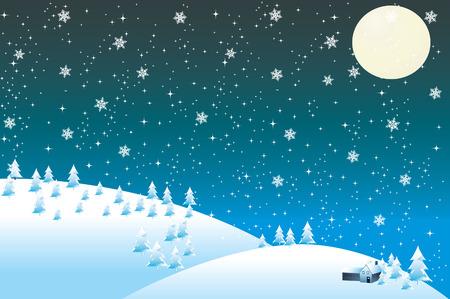 new yea: Nieve en las monta�as.