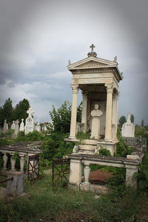 Oude standbeeld van een begraafplaats