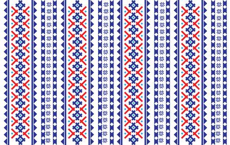 Roemeens, Oekraïens, Wit-Russisch borduurwerk naadloos patroon Stock Illustratie