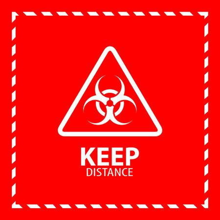 Biohazard warning sign. Check my others vector. Ilustração Vetorial
