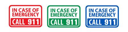 Emergency call sign Vektoros illusztráció