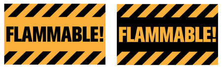 Flammable warning sign. EPS10 vector illustration.