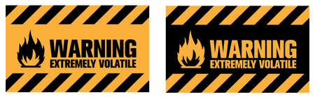 Flammable warning sign. EPS10 vector illustration. Vektoros illusztráció