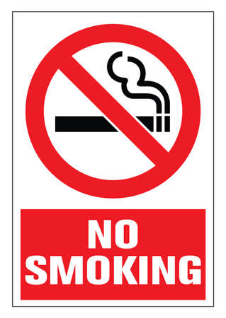 Danger! No smoking cigarette sign. EPS 10 vector illustration. CMYK redy to print.