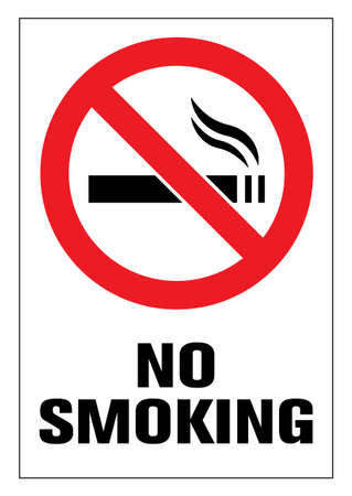 No smoking cigarette sign. EPS 10 vector illustration. CMYK redy to print.