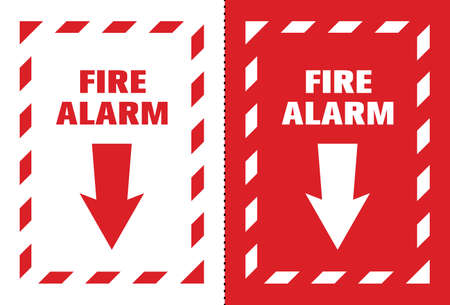 Fire Safety Symbol Sign, Vector Illustration, Label .EPS 10.