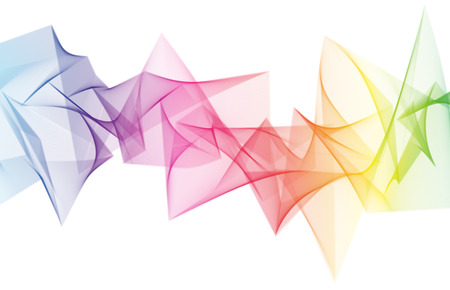 Abstract rainbow sharp shape blended wave background