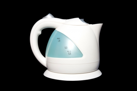 The electric plastic kettle for boiling fresh water It photo