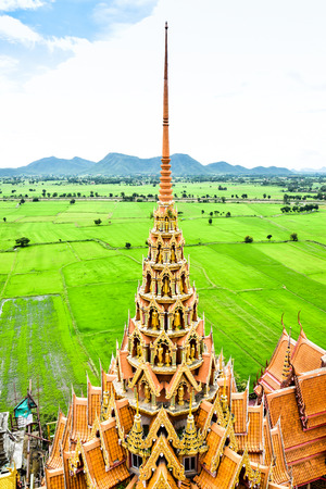 Wat Tham Sua is famous buddhism temples in Kanchanaburi. They have the largest Buddha statue in Kanchanaburi, Thailand.