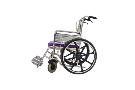Wheelchair is used for someone who cannot walk normally, injury, or disability. 스톡 콘텐츠