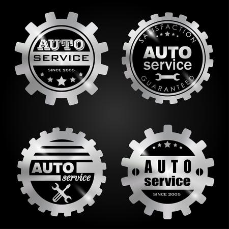 auto service: Auto service badges Set.