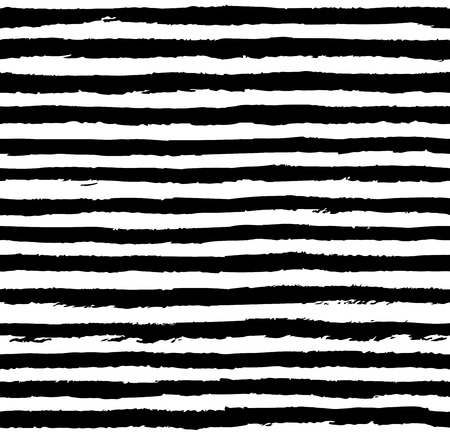 Seamless pattern with grungy stripes. Hand painted texture Illustration