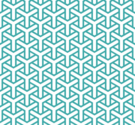 Geometric seamless pattern in asian style. Lattice, triangular, Puzzle, Maze traditional vector seamless pattern.