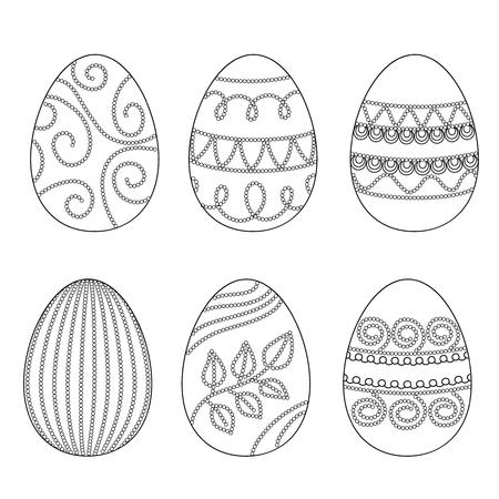 Happy easter Eggs, design elements.