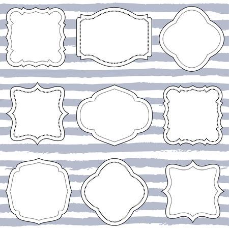 Set Of Ten Vector Frames, Shapes, Wedding Boards Royalty Free ...