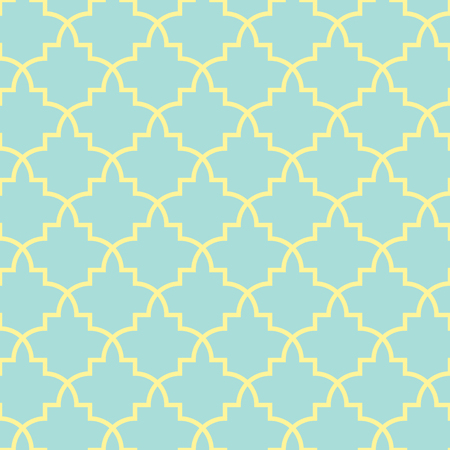 middle: Classical geometric seamless pattern, morocco style, vector background in gold and blue colors.
