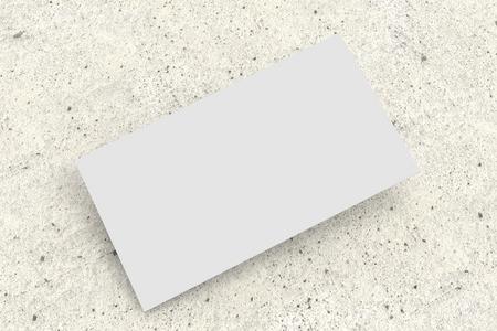 white bussiness card on concrete surface, mockup Banco de Imagens