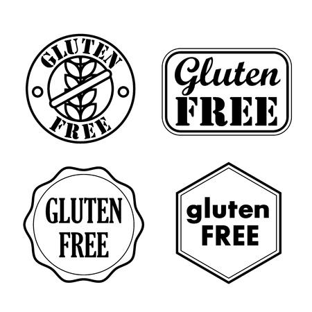 Gluten Free Seals, Badges, Icons. Vector illustration