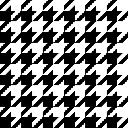 Houndstooth seamless pattern, basic and classic elegant background. Vector illustration.