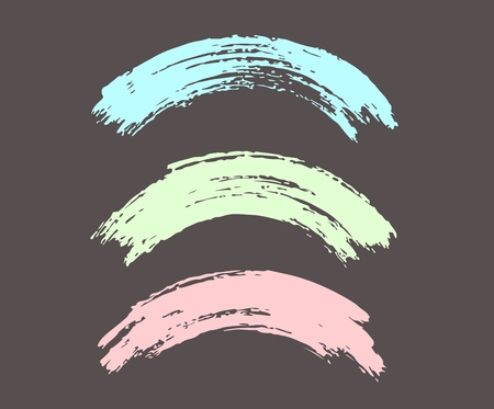 Arched brush strokes, colorful in pastel colors.