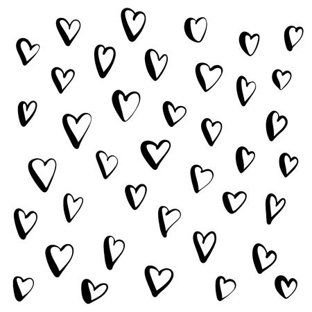 Heart doodle, hand drawn in brush pen style. Valentines day decor Banco de Imagens - 126730399