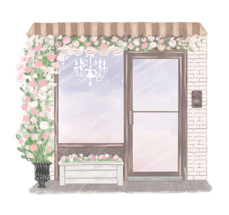 Beautiful Shop hand drawn illustration Ilustração