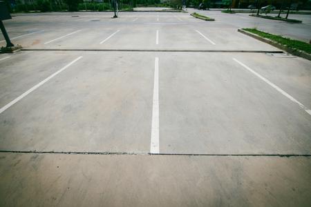 Parkeerplaats Stockfoto