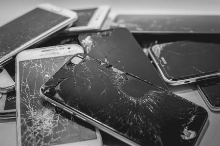 Beschadigde smartphone