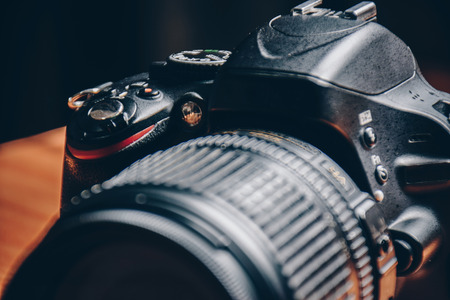 Shutter van dslr camera